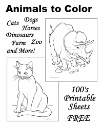 animal coloring pages sheets and pictures