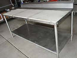 stainless steel butcher table 6 foot heavy duty stainless steel butcher table 1 shelf work prep 72
