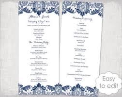 easy wedding programs wedding program template black white wedding program black