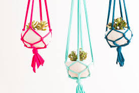 make these macrame hanging planters in 30 minutes brit co