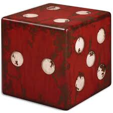 amazon com uttermost 24168 dice accent table red kitchen u0026 dining