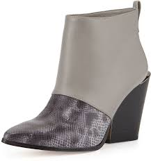 Grey Wedge Ankle Boots Bcbgmaxazria Creed Snake Print Ankle Boot Kaplcagray Where To