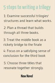 how to write a book trilogy 5 steps now novel