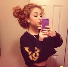 hairstyles for curly and messy hair 11 best curly messy buns images on pinterest curly girl curly