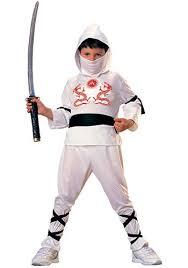 Kids Ninja Halloween Costume Boys White Ninja Costume Kids Ninja Halloween Costumes
