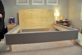 homely ideas diy upholstered bed frame how to build a diy bedframe