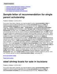fillable online sample letter of recommendation for single parent