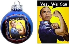 decorative obama yes we can ornament 2 set of 4