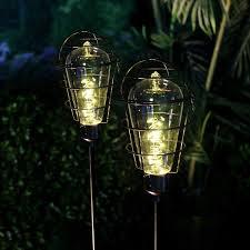 edison light bulb l solar metal edison light bulb stake garden and pond depot
