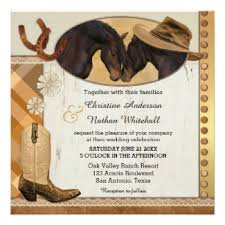 western wedding invitations country and western wedding collection with horses