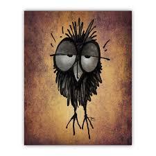 owl wood print paul stickland artists