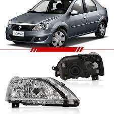 renault logan 2007 renove o visual do seu carro com o farol com máscara cromada para