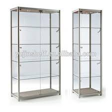 lockable glass display cabinet showcase modern lockable jewery glass display showcase gift shop vitrine