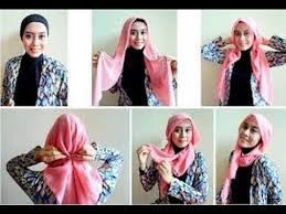 Tutorial Hijab Segitiga Paris Simple | tutorial hijab paris segi empat terbaru dan simple youtube