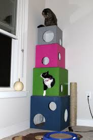 modern scratching post floating shelves for cats cat houses room decorating ideas rooms
