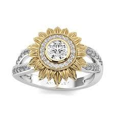sunflower engagement ring sunflower jewelry jewelry ufafokus