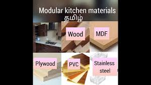 best material for modular kitchen cabinets modular kitchen how to choose materials for cabinets tamil