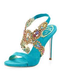 wedding shoes jeweled heels colorful wedding shoes shaadi bazaar