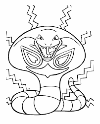 pokemon the evil snake coloring pages snakes ewwwwwwwwwww