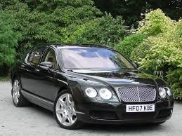 bentley flying spur 2007 used midnight emerald met with saffon hide bentley continental