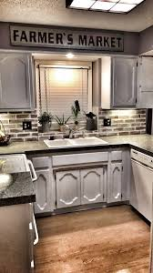 farmers market kitchen brick backsplash german schmear