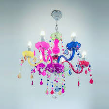 Chandelier For Kids Room by Best 6 Light Crystal Candle Colored Chandelier For Girls