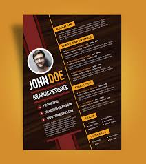 Good Resume Design Free Creative Resume Design Template For Graphic Designer Psd File