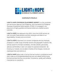 light corporate profile