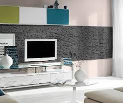 steinwand wohnzimmer baumarkt verblender kunststoff steinoptik für innen und außen