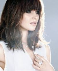 lob hairstyles with bangs 15 best ideas of long bob hairstyles with fringe