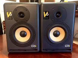 krk home theater krk v6 pair studio monitors series 2 best krk u0027s low reverb