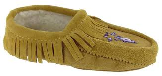Moccasins Traditional Native American Indian Moccasins Shoes Tan Sue Fringe