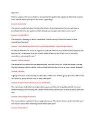 ethics exam 1 nursing nurse practitioner