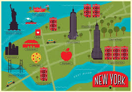 a map nyc nycs most iconic attractions landmarks map maps lpc map of
