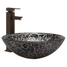 mercury tempered glass vessel sink bathroom
