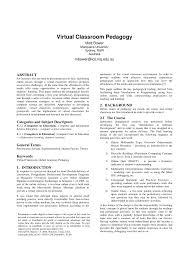 online class platform classroom pedagogy pdf available