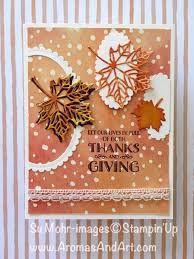 how to make a 3 in 1 thanksgiving card aromas and