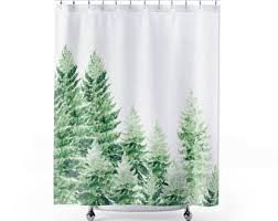 Shower Curtain With Tree Design Tree Shower Curtain Etsy