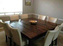brilliant square kitchen table seats 8 great interior design for