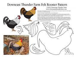 a rooster in my garden felt ornament downeast thunder farm