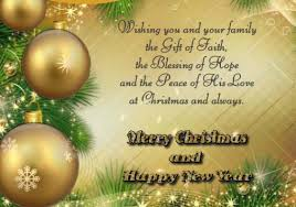 wishing everyone happy merry and a blessed new year