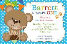 teddy bear invitations for 1st birthday iidaemilia com
