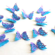 3d butterfly wall die cut paper from mydreamdecors