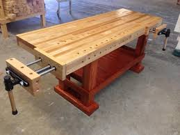 Build Wood Workbench Plans by American Made Woodworking Bench Very Desirable And Clean Lines