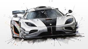 koenigsegg one 1 koenigsegg one 1 watercolour painting youtube