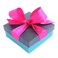 pink satin ribbon blue gift box with pink satin ribbon bow stock photo image 41391767