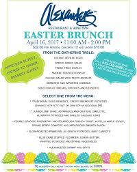 Easter Brunch Buffet Menu by Easter Brunch At Alexander U0027s Restaurant Hilton Head Island Sc