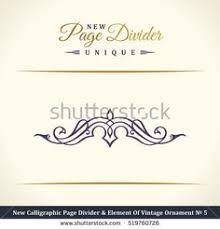 vintage logo elements flourishes calligraphic ornament
