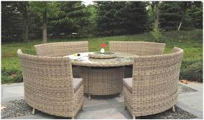 8 seat patio table royalcraft wentworth round 8 seater fan bench dining set