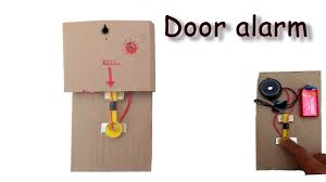 how to make simple door alarm with household items youtube
